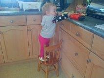 Mia climbing