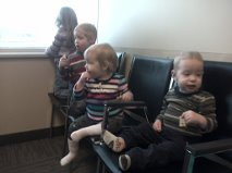 How to keep 4 kids occupied in the waiting room at the doctor's office.